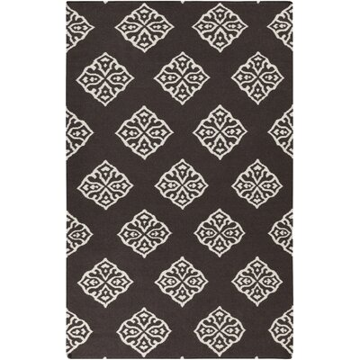 Faith Chocolate Brown Area Rug Rug Size: 2 x 3