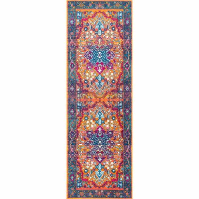 Alijah Orange Area Rug Rug Size: Runner 28 x 8