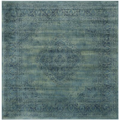 Makenna Turquoise Area Rug Rug Size: Square 8