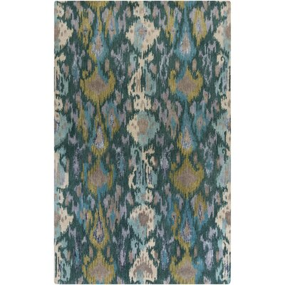 Bower Teal Ikat/Suzani Area Rug Rug Size: Rectangle 8 x 11