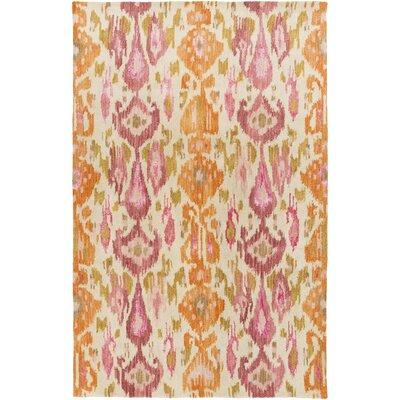 Bower Pastel Pink Ikat/Suzani Area Rug Rug Size: Rectangle 5 x 8