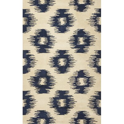 Jagger Blue/White Simplicity Area Rug Rug Size: 8 x 106