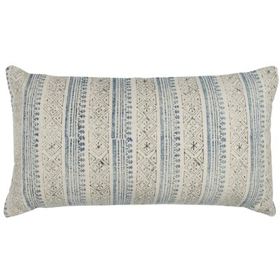 Francena Cotton Lumbar Pillow Color: Blue