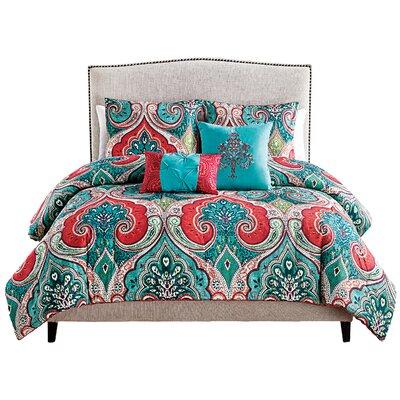Muriel 5 Piece Reversible Comforter Set Size: Full / Queen
