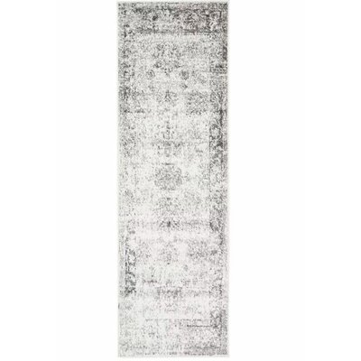 Ford Machine Woven Gray/Beige Area Rug Rug Size: Runner 2 x 67