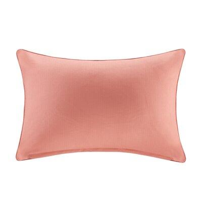 Azura Outdoor Polyester Throw Pillow Color: Coral