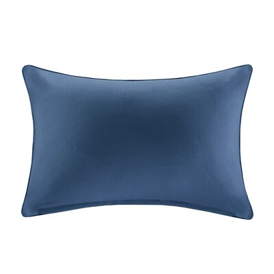 Azura Outdoor Throw Pillow Color: Navy