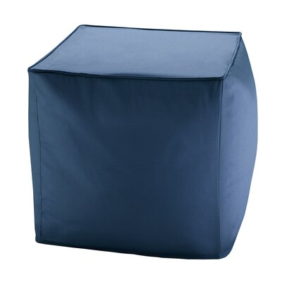 Azura Ottoman with Cushion Upholstery: Navy
