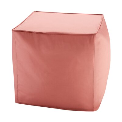 Azura Ottoman with Cushion Upholstery: Coral