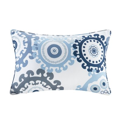 Manchester Printed Medallion 3M Scotchgard Outdoor Pillow Color: Indigo/Blue