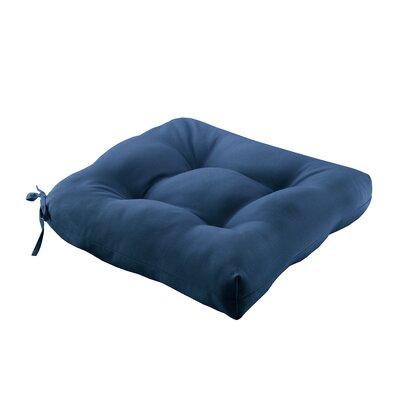 Azura Outdoor Cushion Size: 20x20x3, Color: Navy