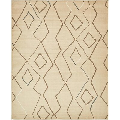 Berkshire Traditional Beige Area Rug Rug Size: 8 x 10