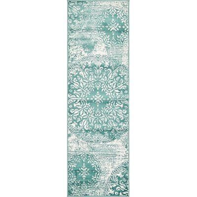 Ford Turquoise Area Rug Rug Size: Runner 2 x 67