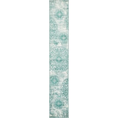 Brandt Turquoise Area Rug Rug Size: Runner 2 x 13