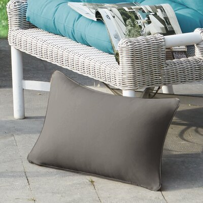 Azura Outdoor Throw Pillow Color: Taupe