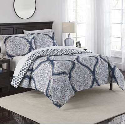 Fontaine 3 Piece Reversible Comforter Set Size: King