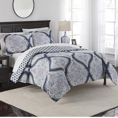 Fontaine 3 Piece Reversible Comforter Set Size: Queen