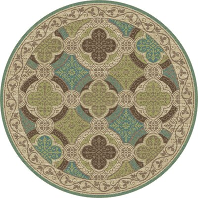 Juliet Ivory/Green Area Rug