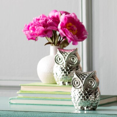 Nickel Aluminum Owl Figurine