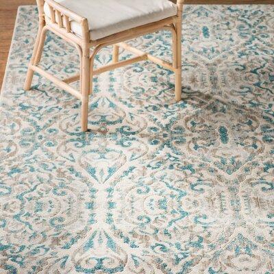 Saleya Turquoise Area Rug Rug Size: Round 89
