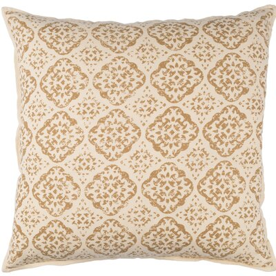 Kody Throw Pillow Size: 20 H x 20 W x 4 D, Color: Beige / Camel