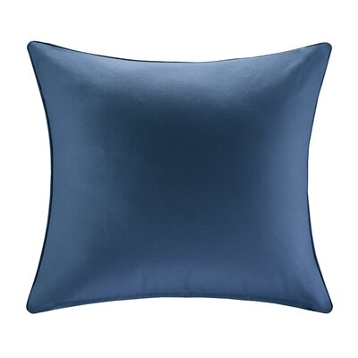 Azura Outdoor Throw Pillow Size: 20x20, Color: Navy