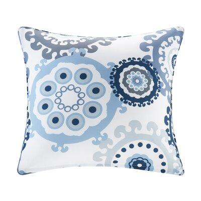 Edyth Outdoor Throw Pillow Size: 20 H x 20 W, Color: Indigo/Blue