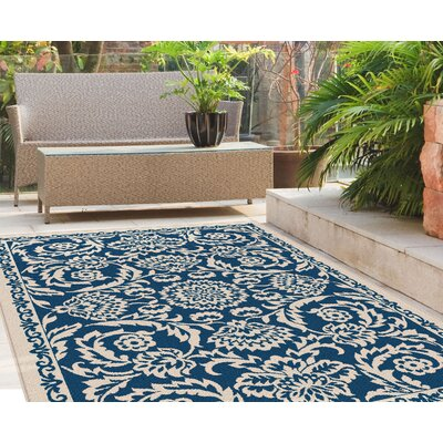 Kamal Navy Indoor/Outdoor Area Rug Rug Size: 53 x 73