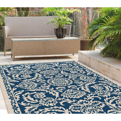 Kamal Navy Indoor/Outdoor Area Rug Rug Size: 710 x 103