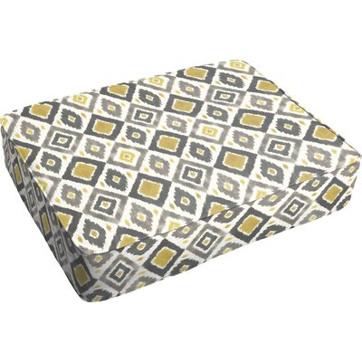 Socoma Corded Indoor/Outdoor Floor Pillow Color: Gold/Grey