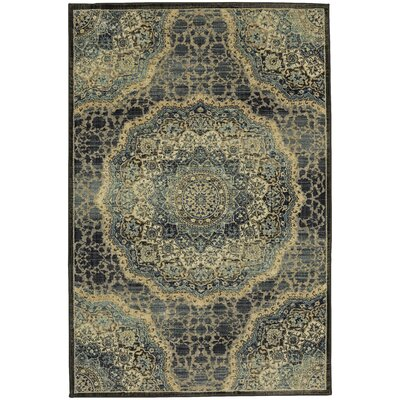 Newbury Black/Yellow Area Rug Rug Size: 5' x 7'