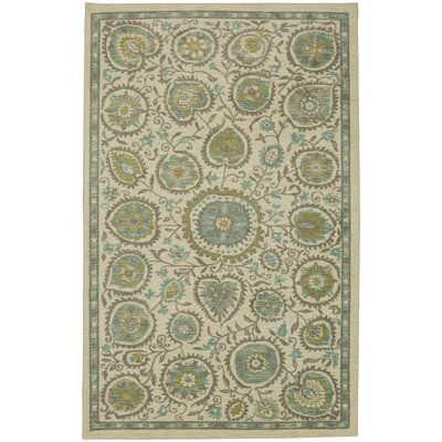 Asherman Beige/Green Area Rug Rug Size: 5 x 7