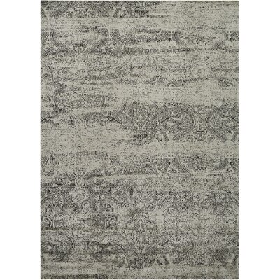 Seim Ivory/Black Area Rug Rug Size: Rectangle 35 x 55