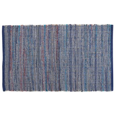 Amanda Hand-Woven Denim Area Rug Rug Size: 23 x 39