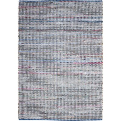 Amanda Hand-Woven Denim Area Rug Rug Size: 110 x 59