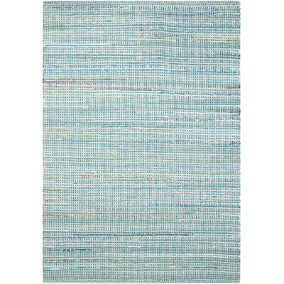 Amanda Hand-Woven Light Blue Area Rug Rug Size: 67 x 96