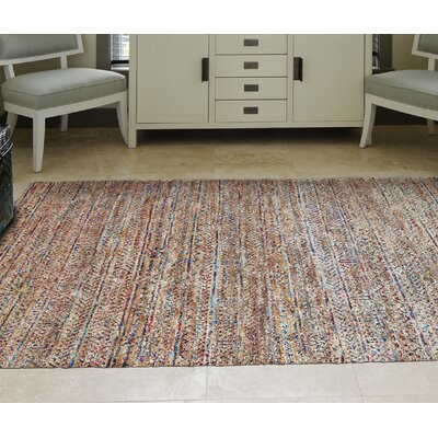 Lansing Hand-Knotted Burlap Area Rug Rug Size: Rectangle 56 x 86