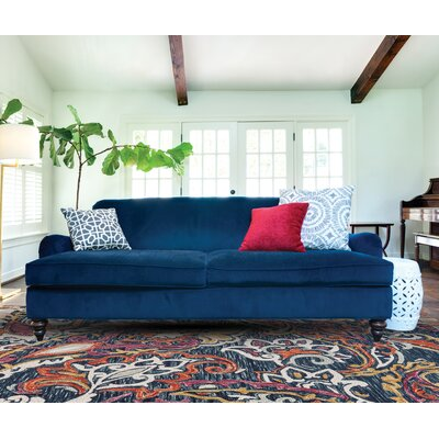 Fleurette Hand-Tufted Orchid/Blue Area Rug Rug Size: Round 8