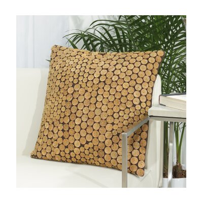 Anupam Button 100% Cotton Throw Pillow Color: Green