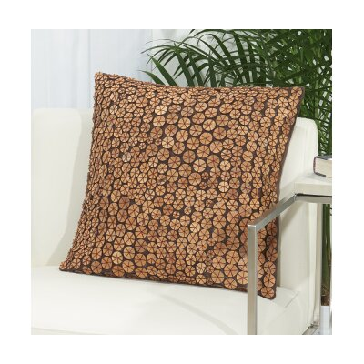 Anupam Button 100% Cotton Throw Pillow Color: Brown