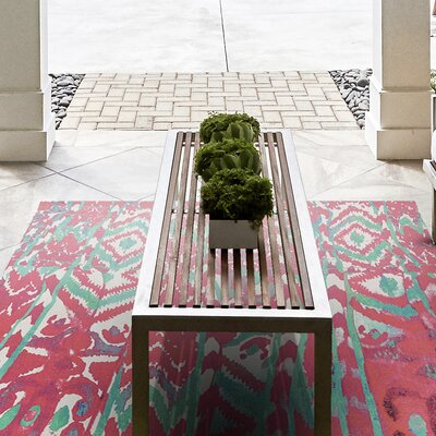 Florus Hand Woven Melon Indoor/Outdoor Area Rug Rug Size: 4 x 6