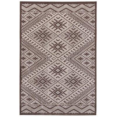 Vivienne Coffee/Brown Area Rug Rug Size: 53 x 76