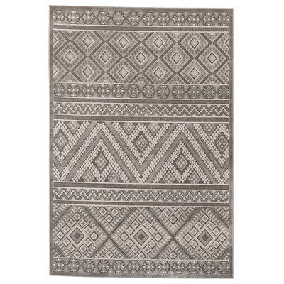 Vivienne Gray/Silver Area Rug Rug Size: 76 x 106