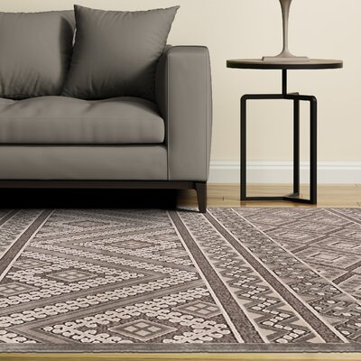 Vivienne Gray/Silver Area Rug Rug Size: Rectangle 53 x 76