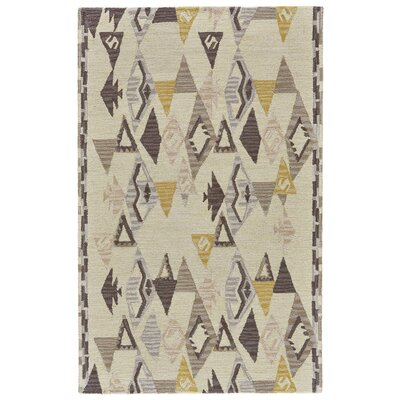 Pacifica Hand-Tufted Yellow/Natural Area Rug Rug Size: Rectangle 36 x 56