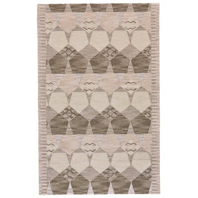 Pacifica Hand-Tufted Gray/Taupe Area Rug Rug Size: 36 x 56