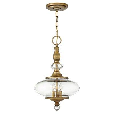 Patricia 3-Light Pendant Finish: Heritage Brass