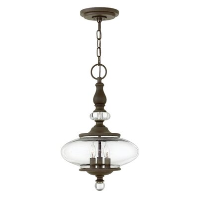 Patricia 3-Light Pendant Finish: Oil Rubbed Bronze