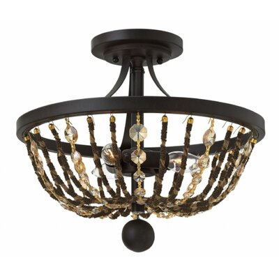 Marla 3-Light Semi Flush Mount