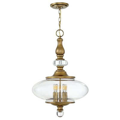 Patricia 5-Light Pendant Finish: Heritage Brass